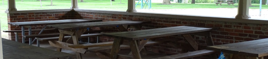 picnic tables shelter