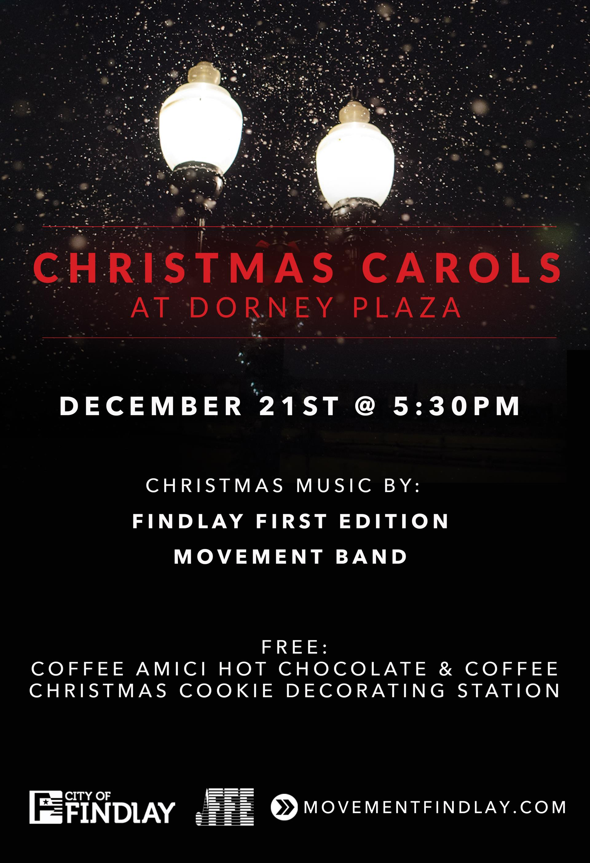 christmas caroling in dorney plaza