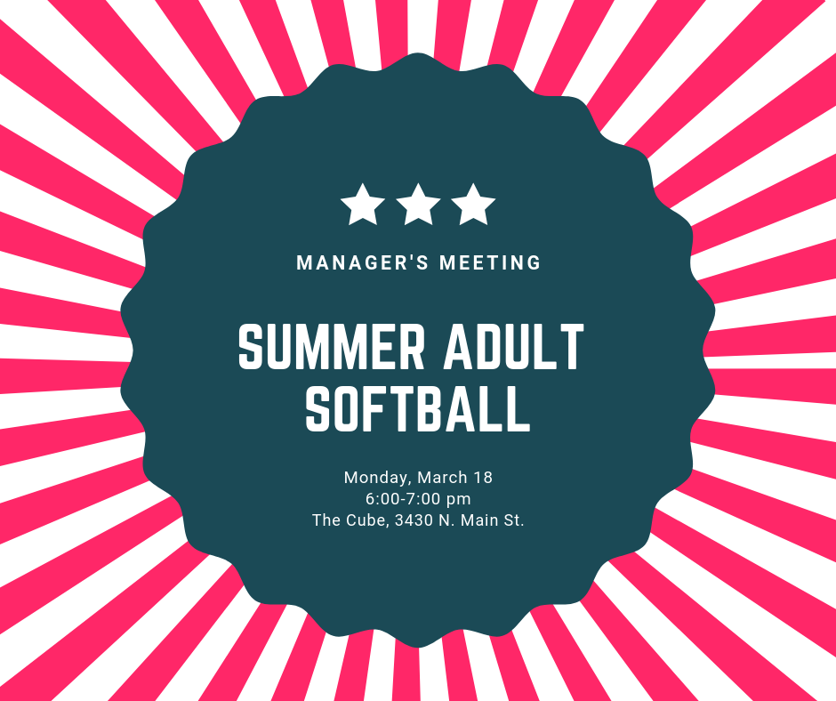 Adult Softball Manager's Meetng