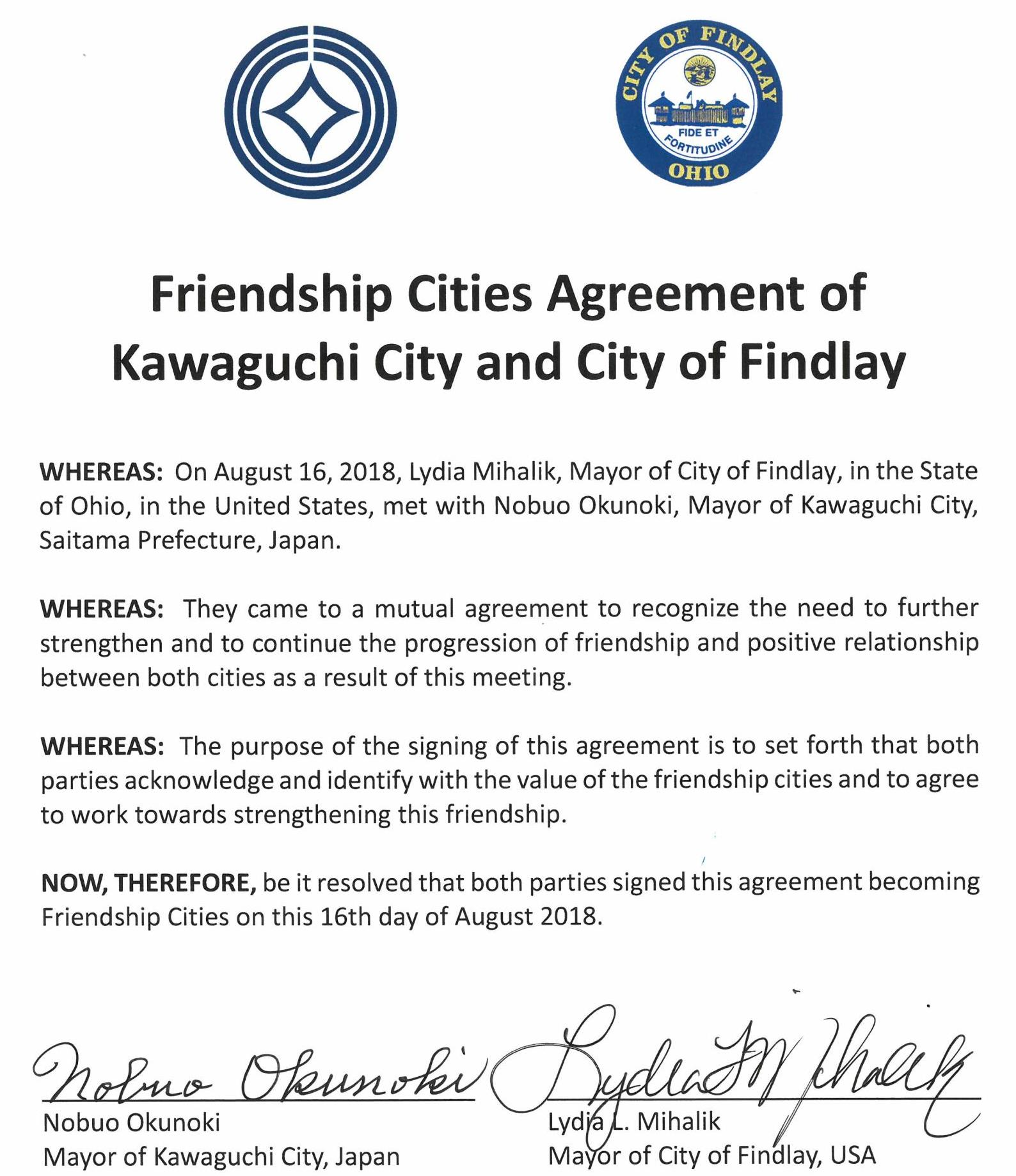 Friendship Cities Agreement