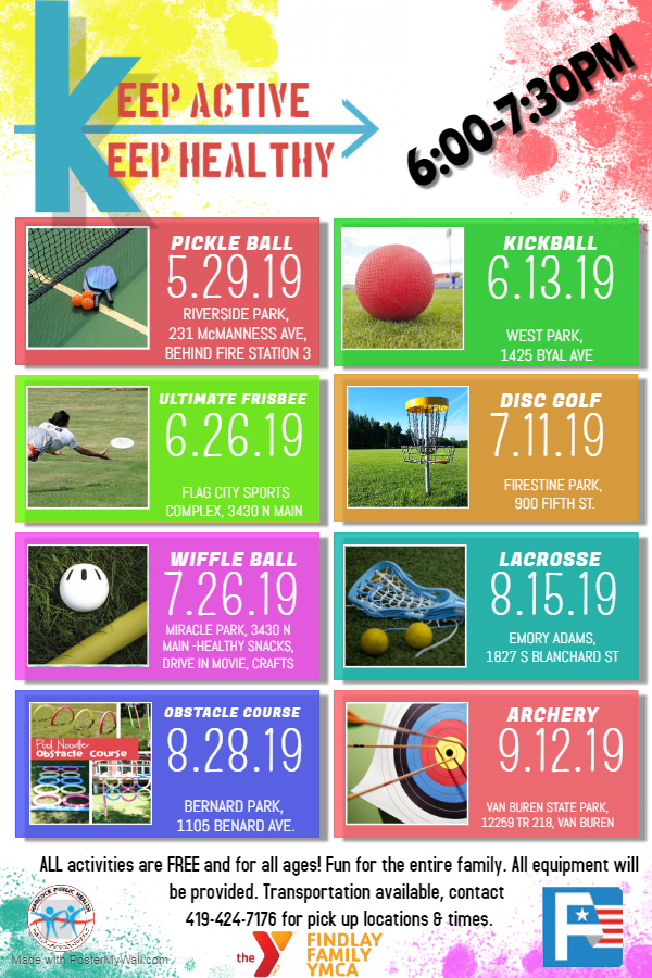 2019 Keep Active Flyer