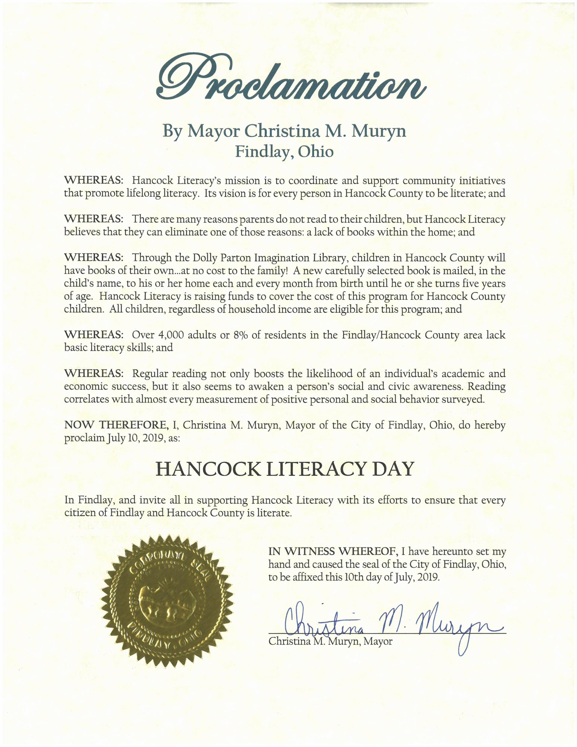 2019.07.10.Hancock Literacy Day