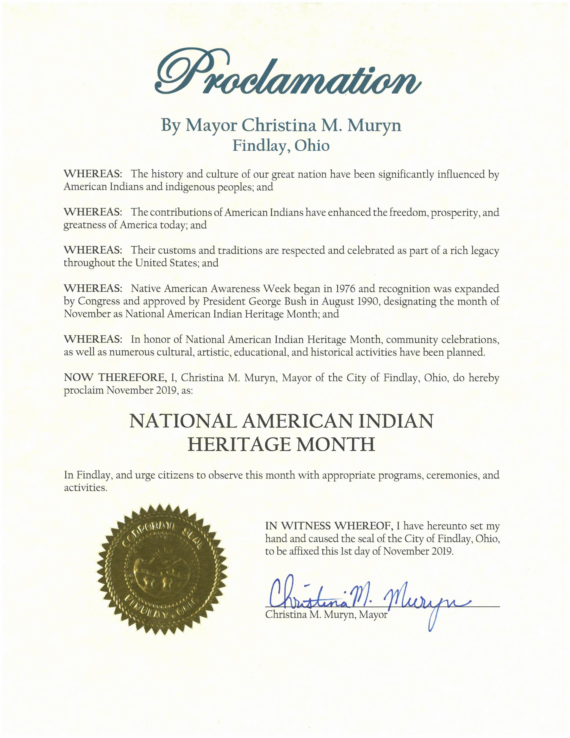 2019.11.National American Indian Heritage Month