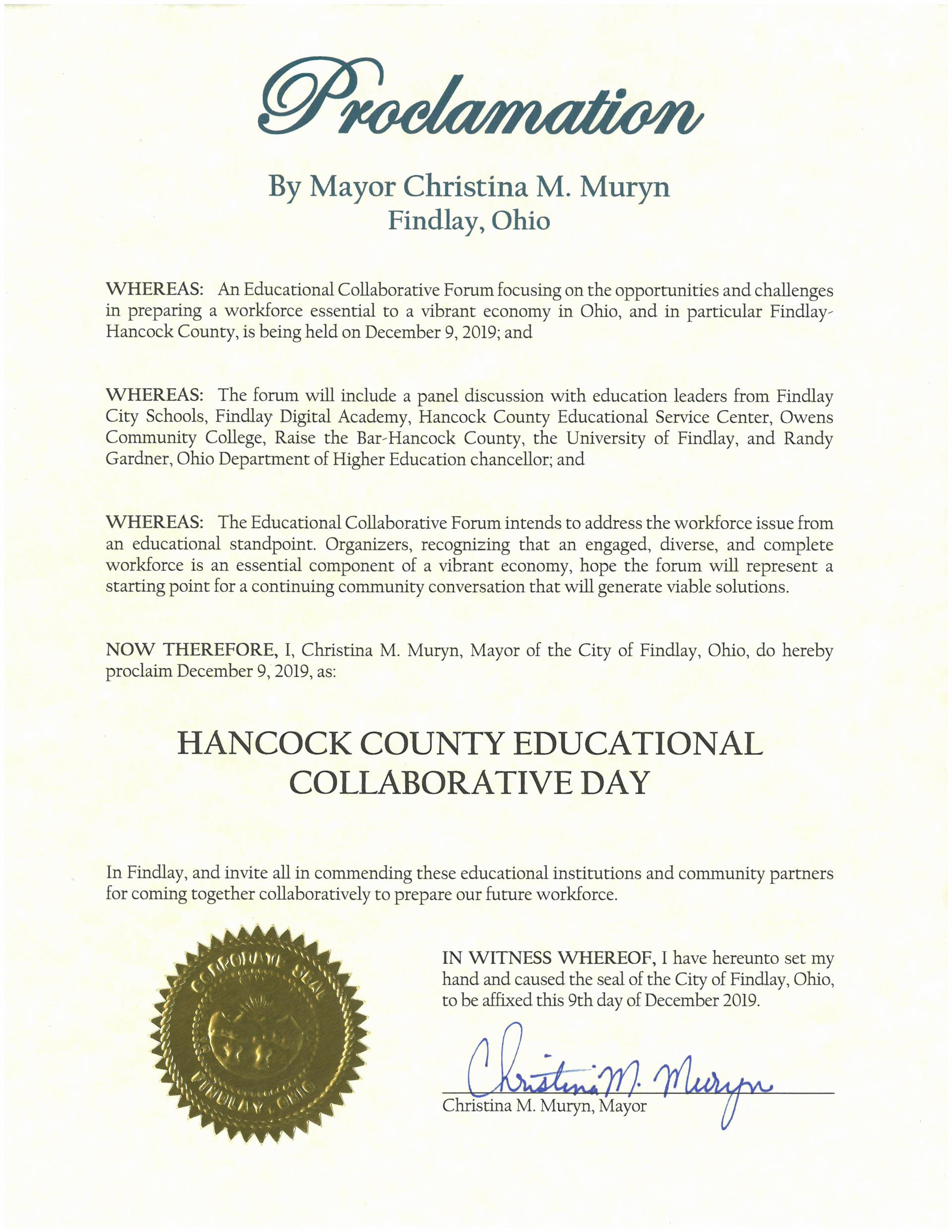 2019.12.09.Hancock County Educational Collaborative Day