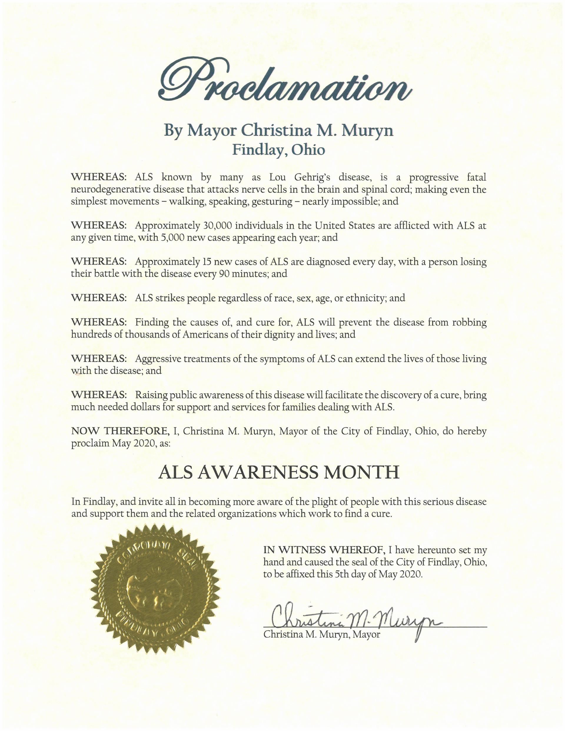 2020.05.ALS Awareness Month Proclamation