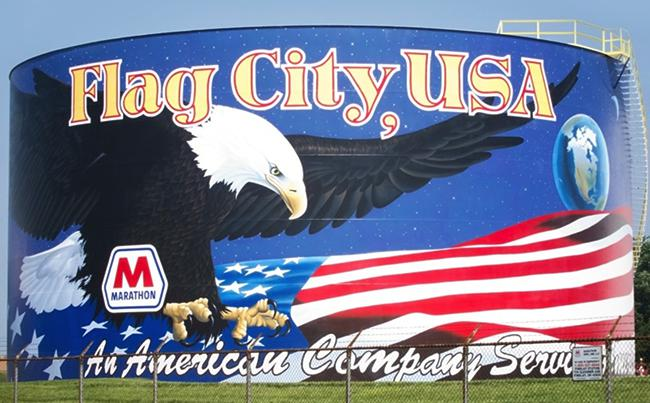 Flag City USA mural