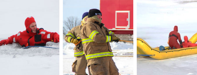 photos of fire fighter training