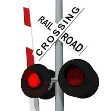 Railroad Crossing with lights